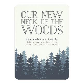 Invitación móvil del bosque del invierno