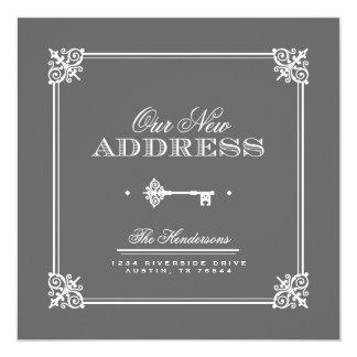 Invitación móvil dominante elegante invitación 13,3 cm x 13,3cm