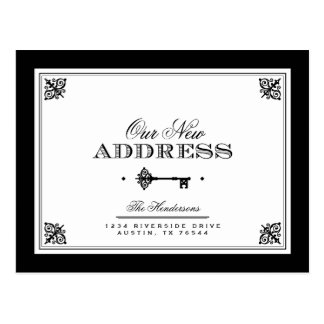 Invitación móvil dominante elegante postal