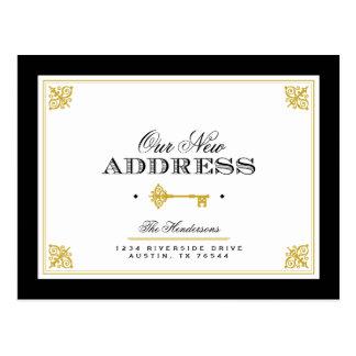 Invitación móvil dominante elegante tarjeta postal