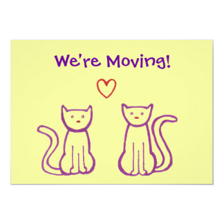 Invitación móvil - gatos con el corazón