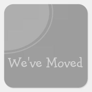 Invitación móvil gris simple pegatina cuadrada
