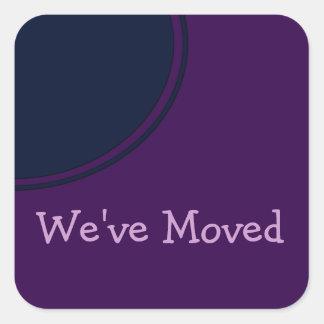 Invitación móvil moderna púrpura oscura pegatina cuadrada