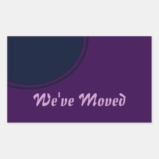 Invitación móvil moderna púrpura oscura pegatina rectangular