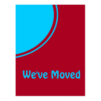 Invitación móvil moderna roja de la turquesa tarjeta postal