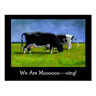 Invitación móvil: Vacas de Holstein: Arte en Postales