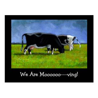 Invitación móvil: Vacas de Holstein: Arte en Postal