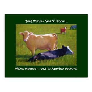 INVITACIÓN MÓVIL: Vacas en Pature: Pintura Postales