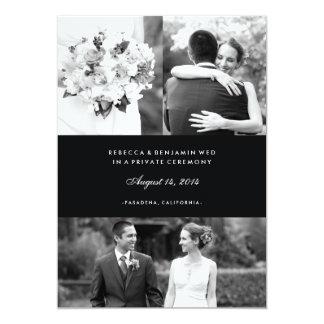 Invitación multi de la boda de la foto en negro