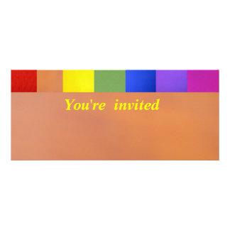 Invitación - multicolora
