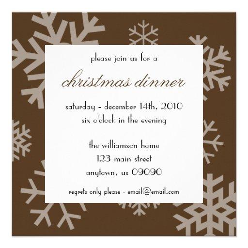 Invitación múltiple del navidad de los copos de ni