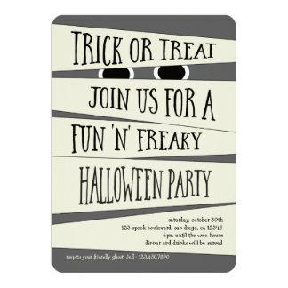 Invitación Mummified del fiesta de Halloween