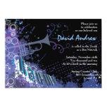 Invitación musical de Mitzvah del palo de la barra Invitación 12,7 X 17,8 Cm