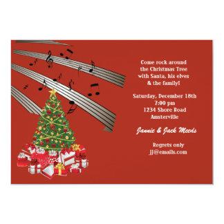 Invitación musical del navidad
