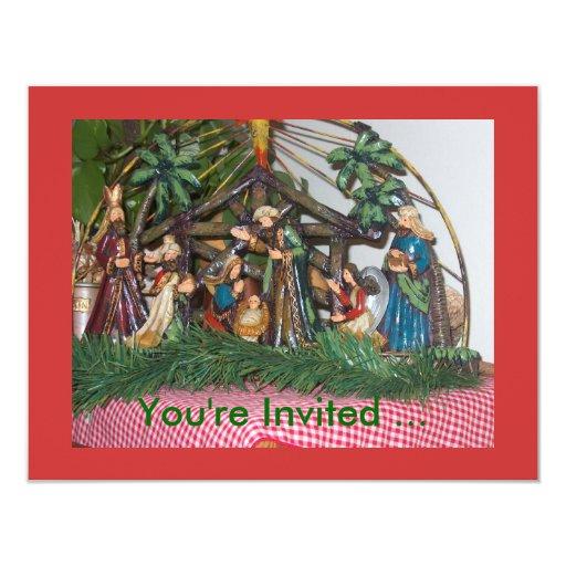 """Invitación/natividad del navidad invitación 4.25"""" x 5.5"""""""