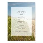 Invitación natural del brunch del boda del poste