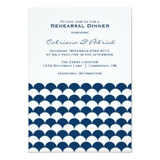 Invitación náutica de la cena del ensayo del