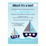 Invitación náutica de la fiesta de bienvenida al b