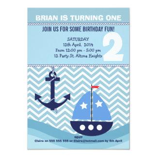 Invitación náutica de la fiesta de cumpleaños de