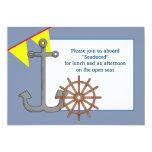 Invitación náutica de la forma de la nave