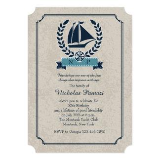 Invitación náutica de la guirnalda
