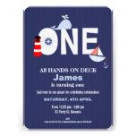 Invitación náutica del 1r cumpleaños de los muchac
