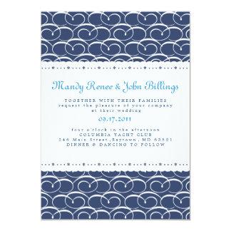 Invitación náutica del boda