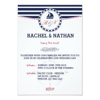 Invitación náutica del boda - atar el nudo