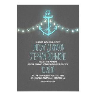 invitación náutica del boda de la pizarra de la