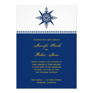 Invitación náutica del boda del amarillo de la mar
