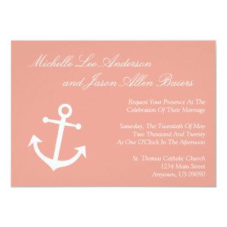 Invitación náutica del boda del ancla del barco