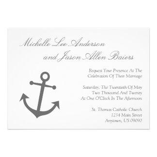 Invitación náutica del boda del ancla del barco g
