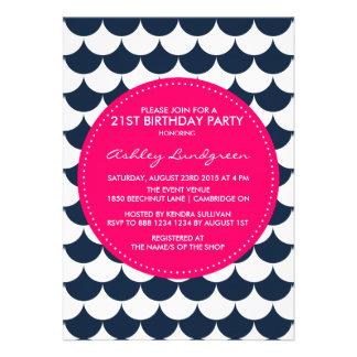 Invitación náutica del cumpleaños del modelo de la