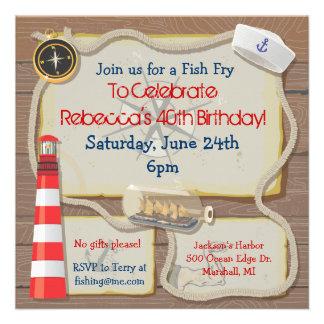 Invitación náutica del fiesta del marinero