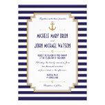 Invitación náutica elegante del boda