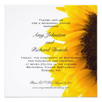 Invitación negra amarilla de la cena del ensayo