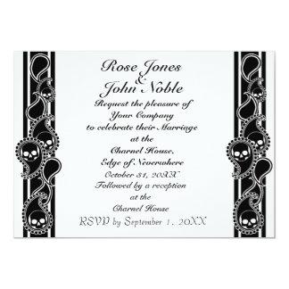Invitación (negra) anversa del boda