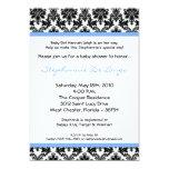 invitación negra azul clara de la fiesta de