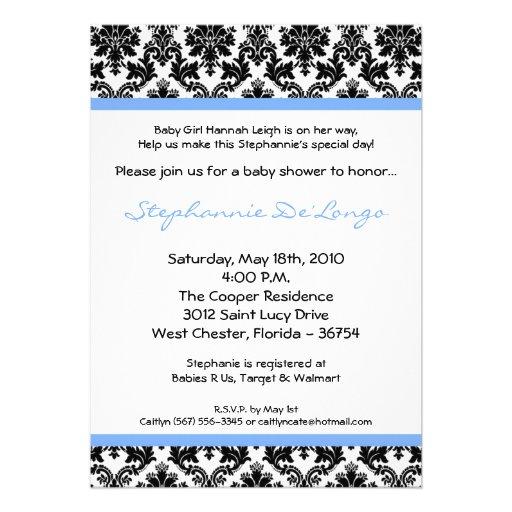 invitación negra azul clara de la fiesta de bienve