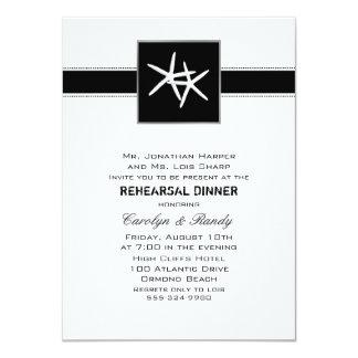 Invitación negra básica de la cena del ensayo de