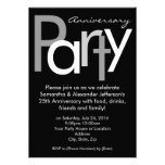Invitación negra/blanca maciza de la fiesta de ani