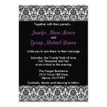 Invitación negra/blanca/púrpura del boda del invitación 12,7 x 17,8 cm