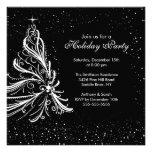 Invitación negra de la celebración de días festivo