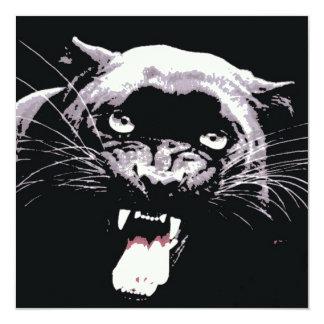 Invitación negra de la pantera de Jaguar