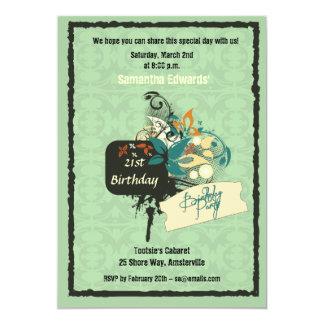 Invitación negra de la tinta invitación 12,7 x 17,8 cm