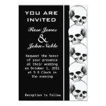 Invitación (negra) del boda del ébano de los invitación 12,7 x 17,8 cm