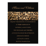 Invitación negra del boda del safari