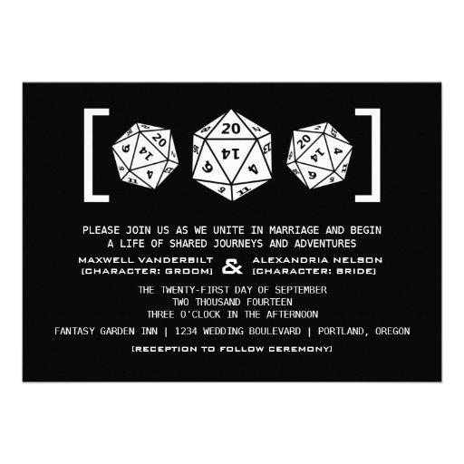 Invitación negra del boda del videojugador de los