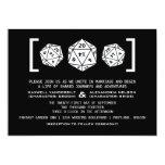 Invitación negra del boda del videojugador de los invitación 12,7 x 17,8 cm