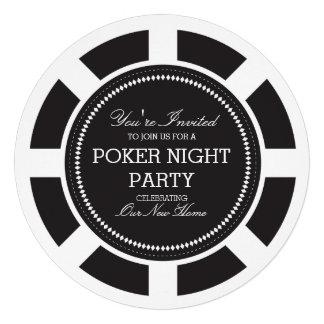 Invitación negra del fiesta de la noche del juego